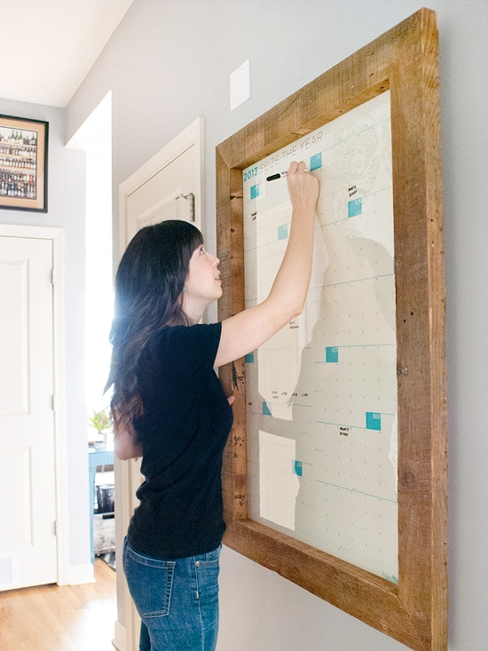 Diy Large Wall Calendar : Diy a big honking frame