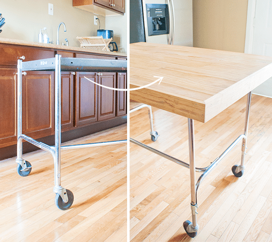 Kitchen Island Cart Diy from cart to island (aka diy tabletop)