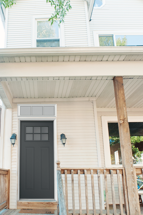 Transom door craftsman style single doors with for Front door with transom above