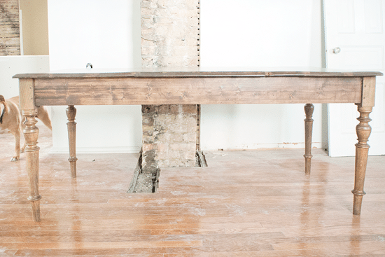 The farmhouse table stain and finish yellow brick home for Yellow farmhouse table