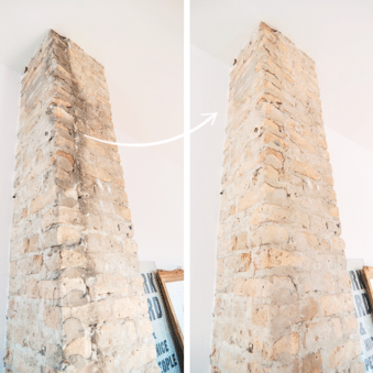 Greased Lightning for removing chimney soot // via Yellow Brick Home