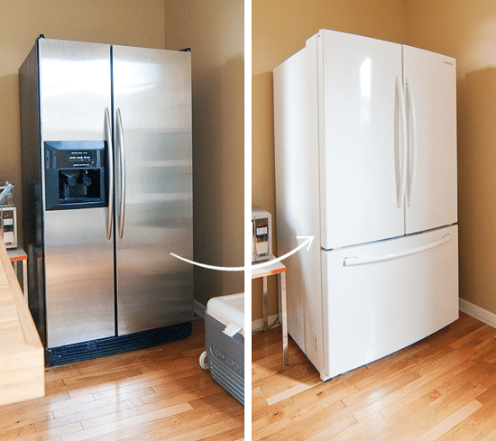appliances stainless steel vs white yellow brick home