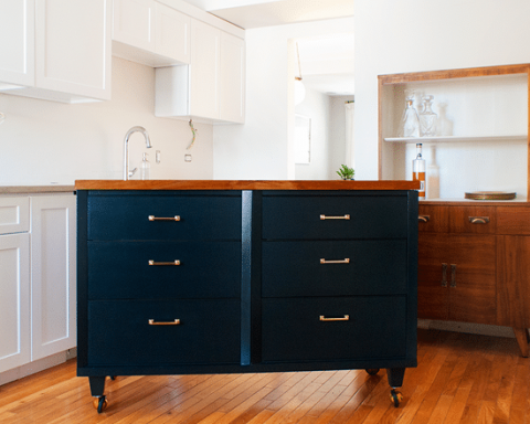 From Dresser to Island! - Yellow Brick Home