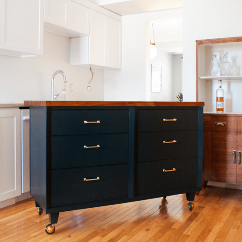 From Dresser To Island Yellow Brick Home
