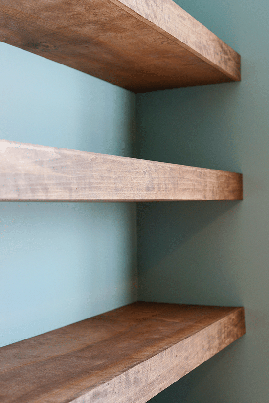 Floating Wood Shelves ~ Diy floating wood shelves
