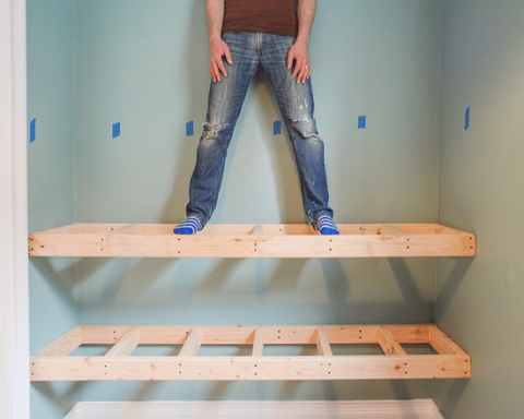 Diy Floating Shelves For Easy Storage, How To Build Wall Mounted Shelves In Garage