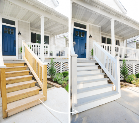 Painting The Exterior Stairs