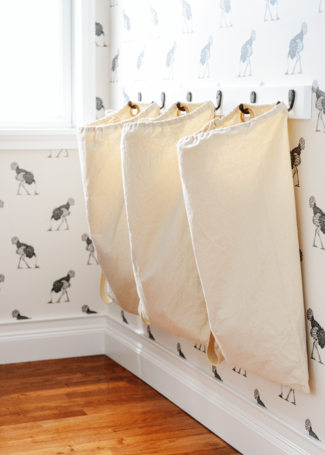 A diy laundry sorter solution - Small space bags ideas ...