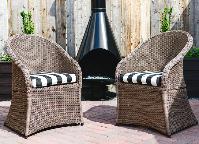 Cute wicker patio furniture