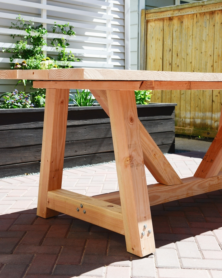 Remarkable Our Diy Patio Table Part I Yellow Brick Home Download Free Architecture Designs Scobabritishbridgeorg