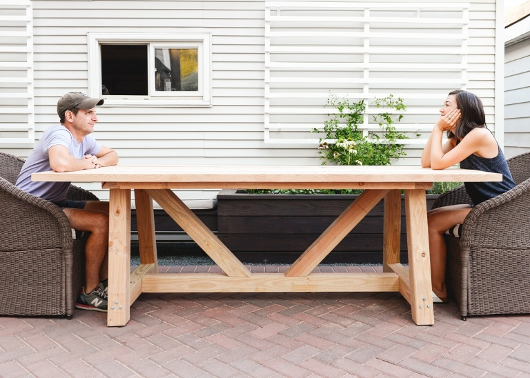 Cool Our Diy Patio Table Part I Yellow Brick Home Download Free Architecture Designs Scobabritishbridgeorg
