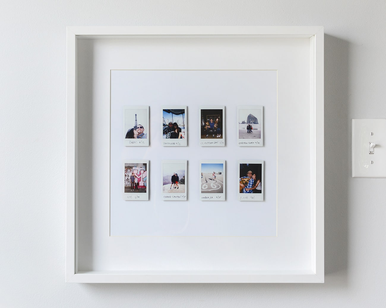 A Fun and Easy Instant Photo Display - Yellow Brick Home