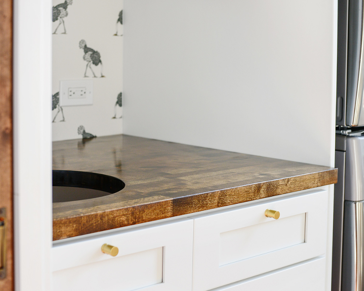 how we measured cut and installed our butcher block