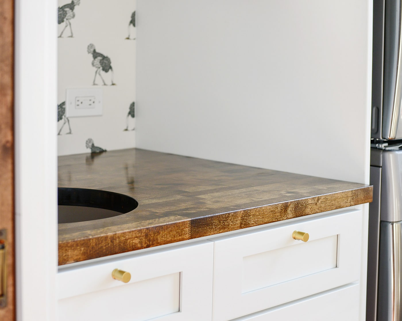 Butcher Block Counter Installation 18