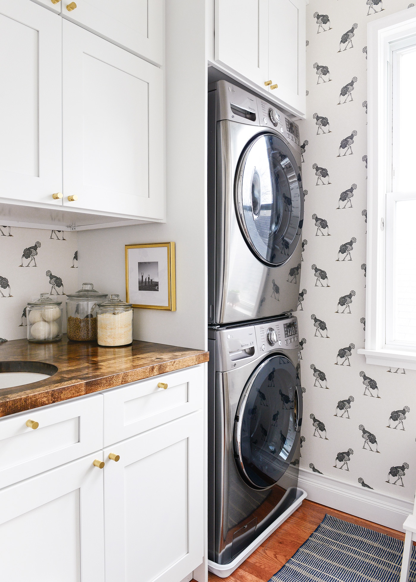 laundry room! done! - yellow brick home