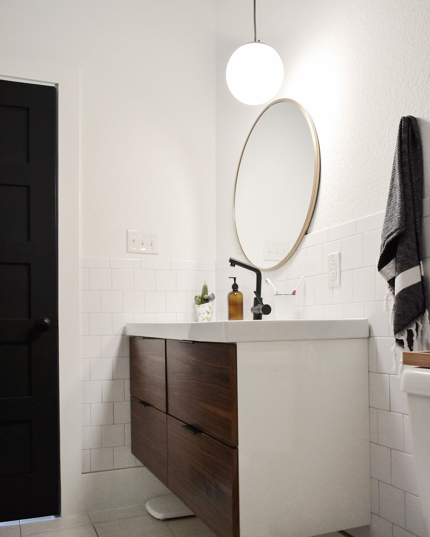 A Sagging Vanity Solution Make Your Own Walnut Veneer