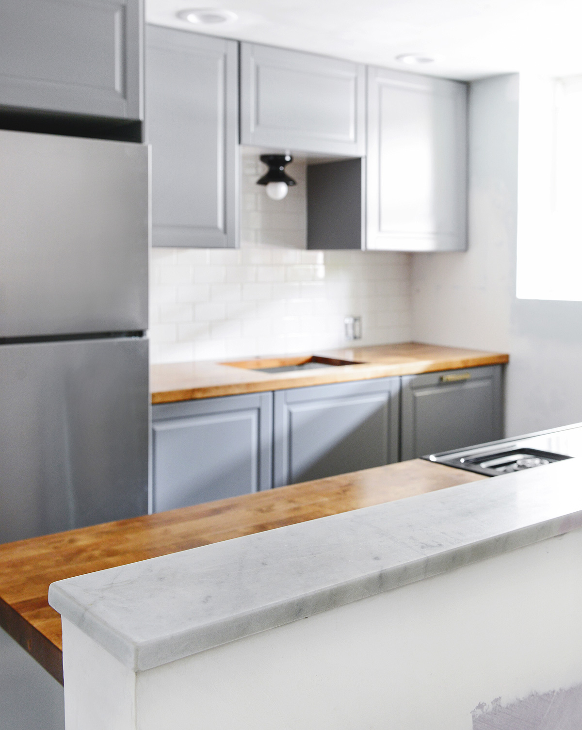 How We Polished A Mini Marble Countertop For The Garden Kitchen!