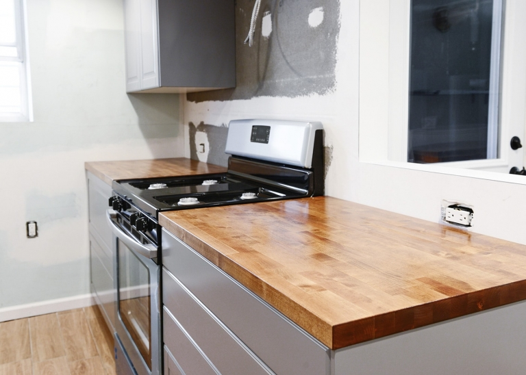 Installing a Butcher Block Countertop + Why We Chose It