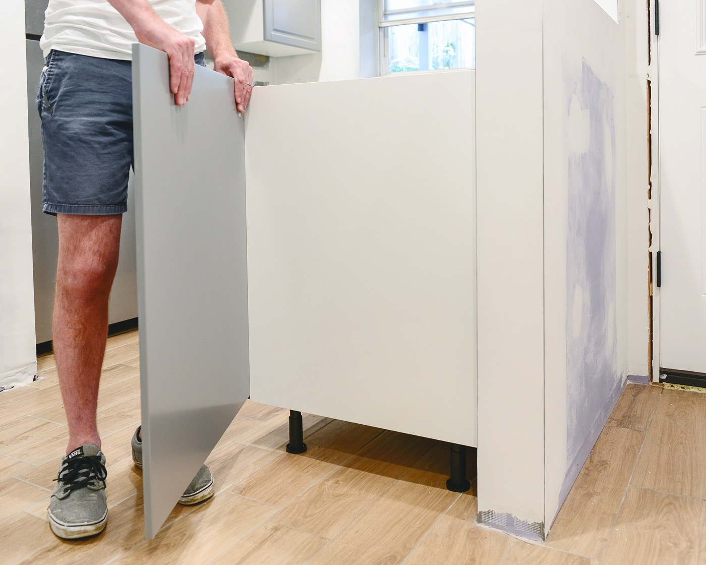 Perfecting the imperfect in our ikea kitchen fillers - Ikea corner cabinet door installation ...