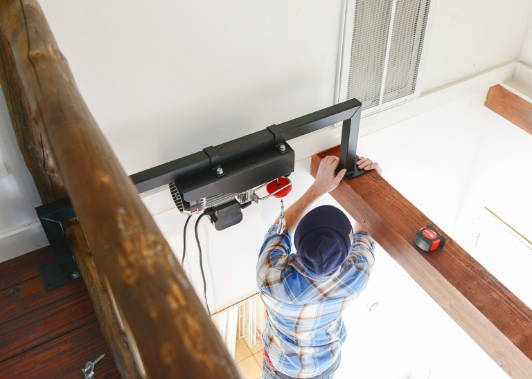 Our Loft Ladder Goes Electric! - Yellow Brick Home