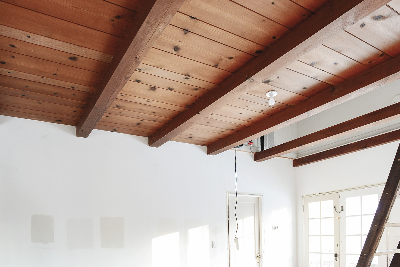 How we problem solved an off centered light and why yellow brick a conversation with our contractor had us realizing that the task would be more difficult than we would have liked especially if we wanted that ceiling to arubaitofo Image collections
