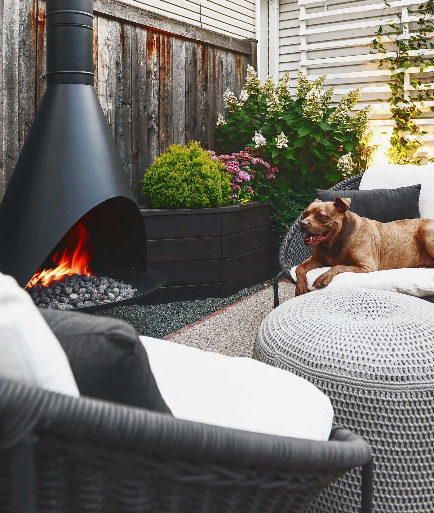 Our Outdoor Fireplace Farewell Propane Hello Natural Gas Yellow Brick Home