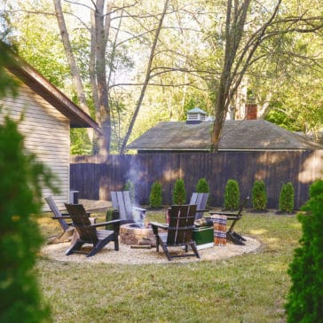Our 3 day 'Flip the Yard' backyard makeover with Troy-Bilt | via Yellow Brick Home