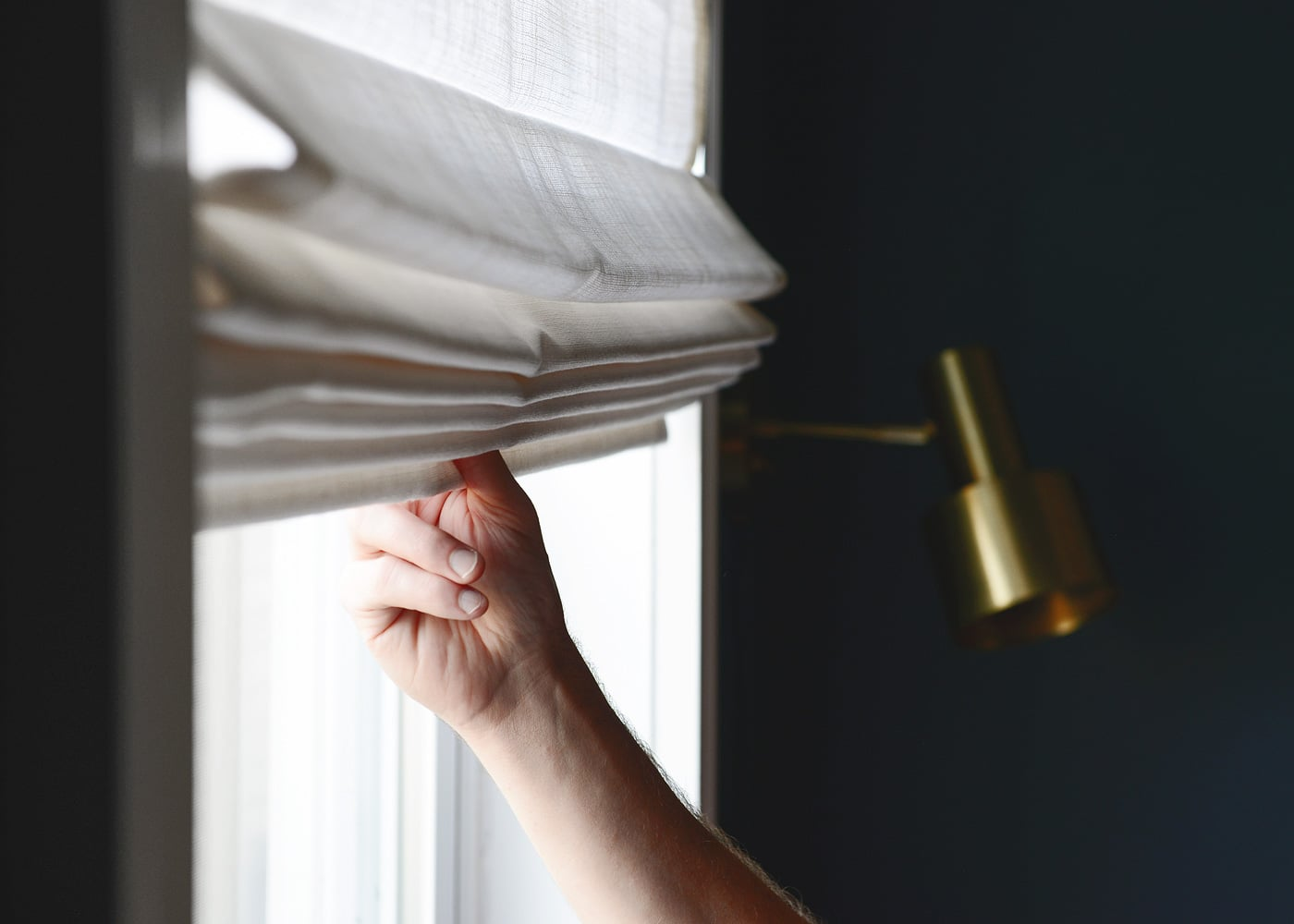 Window safety month | choose cordless window treatments for family safety | via Yellow Brick Home