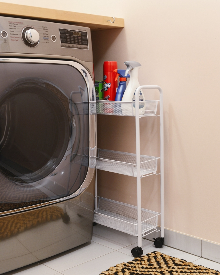 A 2 Day Pretty In Peach Laundry Room Makeover Yellow Brick Home