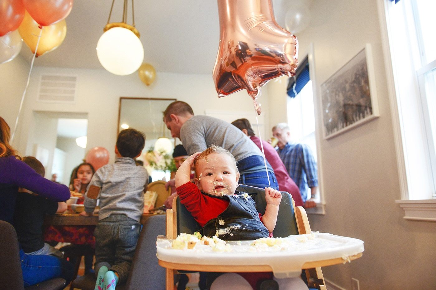 lucy turns 1 a gold and pink kids birthday party via yellow brick home