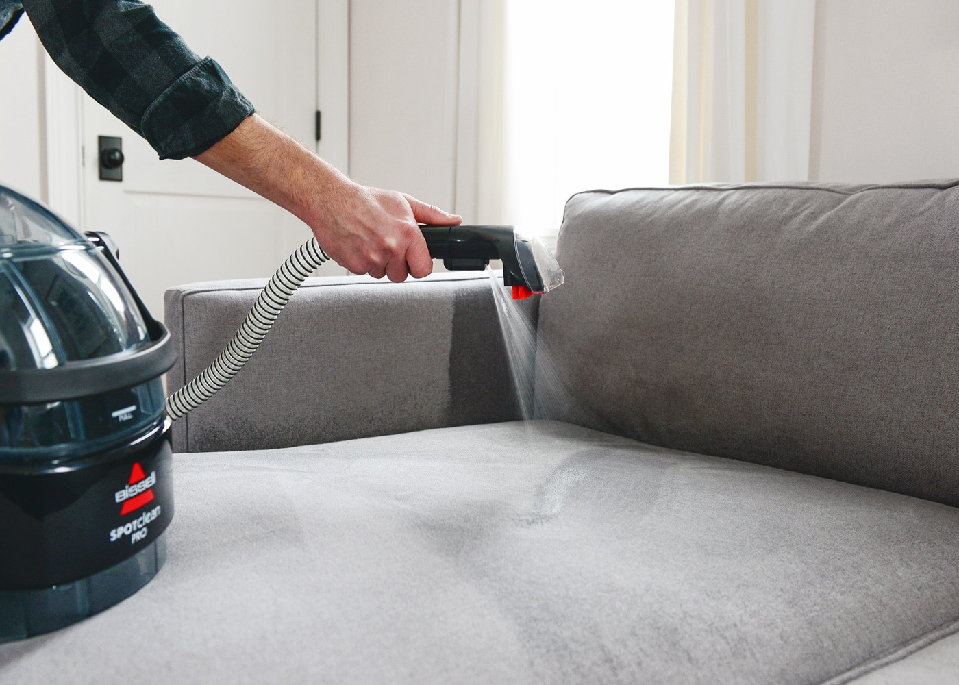How we clean our upholstered furniture // via Yellow Brick Home