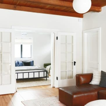 How to repair and paint French Doors | via Yellow Brick Home