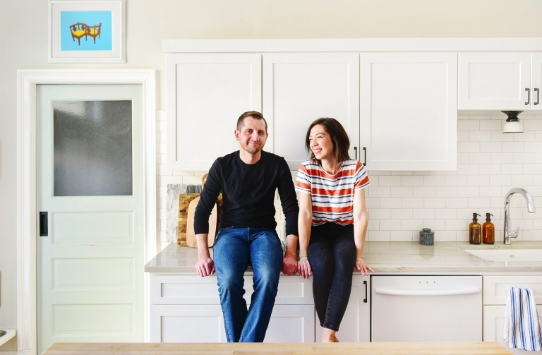 We're Kim + Scott. Welcome to our Chicago home! // via Yellow Brick Home
