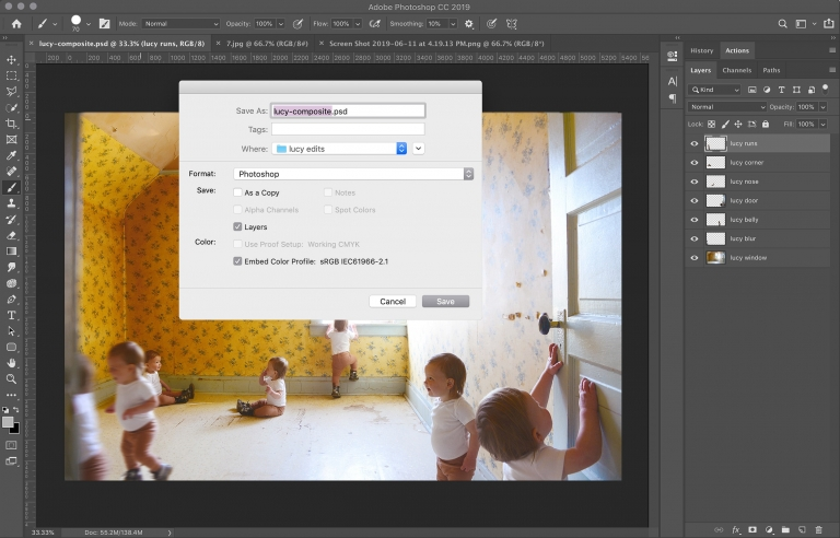 How To Create a Composite Photo by Stitching Multiple Images