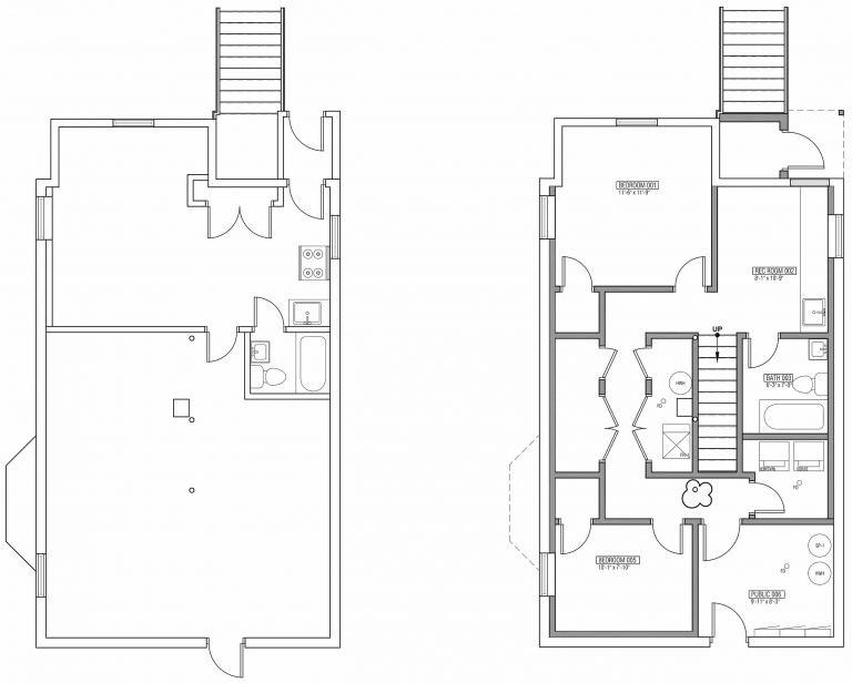 Breaking Down The Two Flat Plans Unit 1 Yellow Brick Home