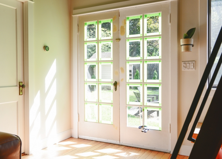 Painting Our French Doors Black Yellow Brick Home
