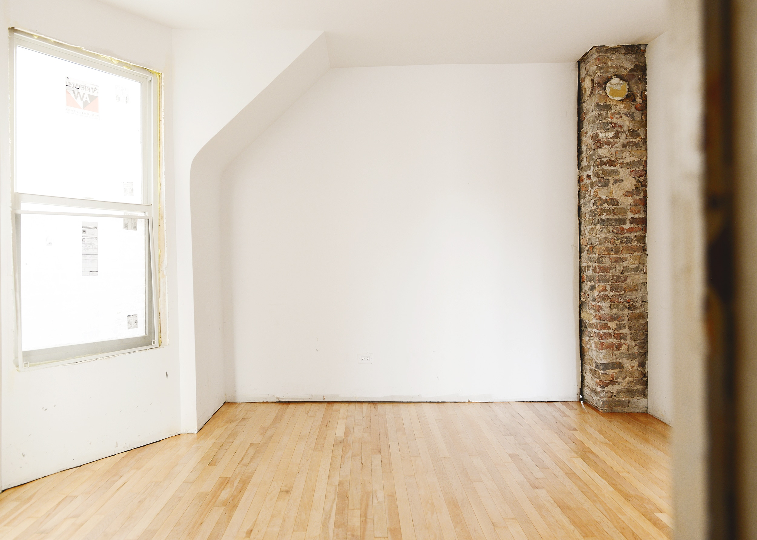 Refinished Wood Floors At The Two Flat Yellow Brick Home